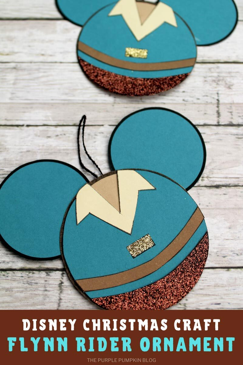Disney Christmas Craft Flynn Rider Ornament