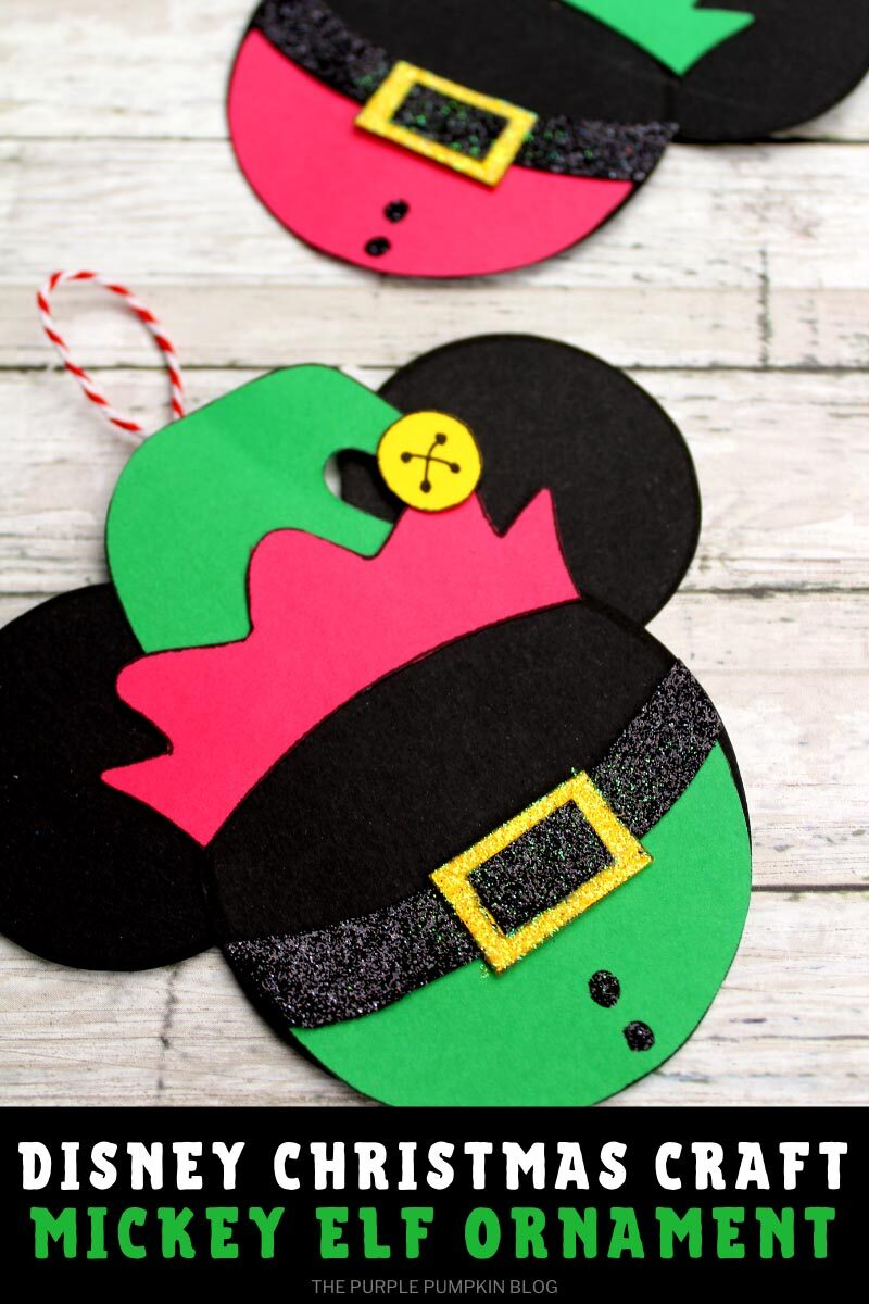 Elf Mickey Mouse Christmas Ornament Craft