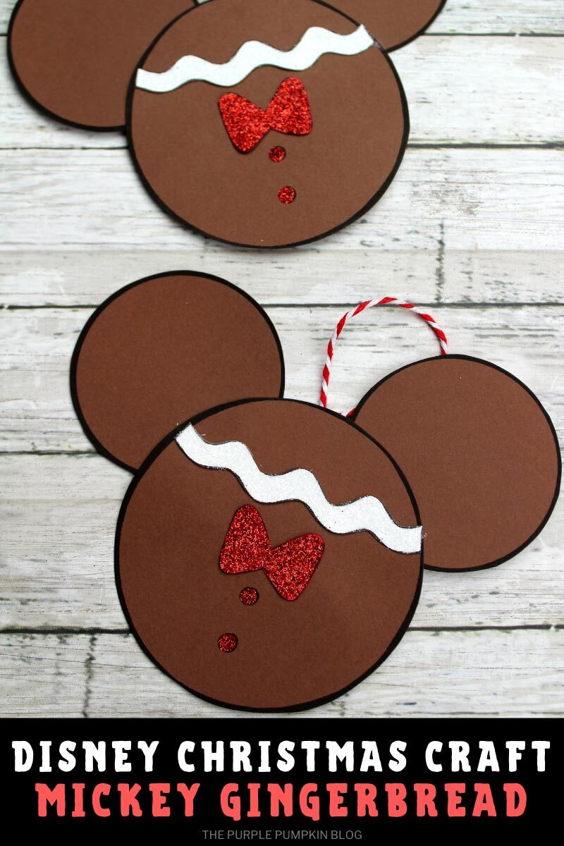 Disney Christmas Craft Mickey Gingerbread