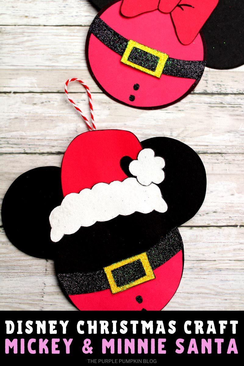 Disney Christmas Craft Mickey & Minnie Santa