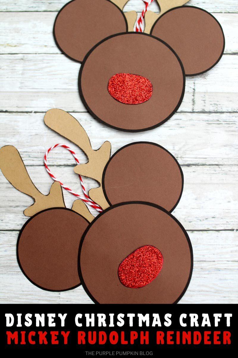 Disney Christmas Craft Mickey Rudolph Reindeer