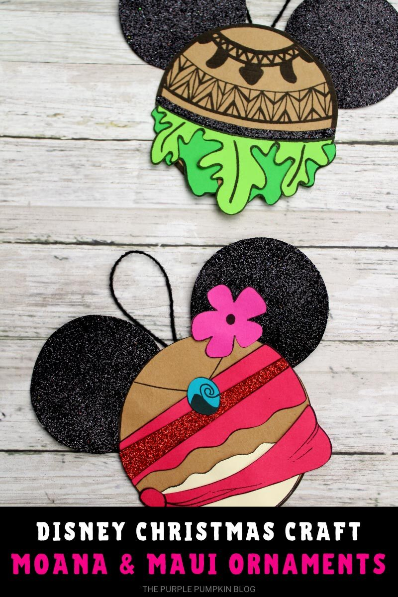 Disney Christmas Craft - Moana & Maui Ornaments