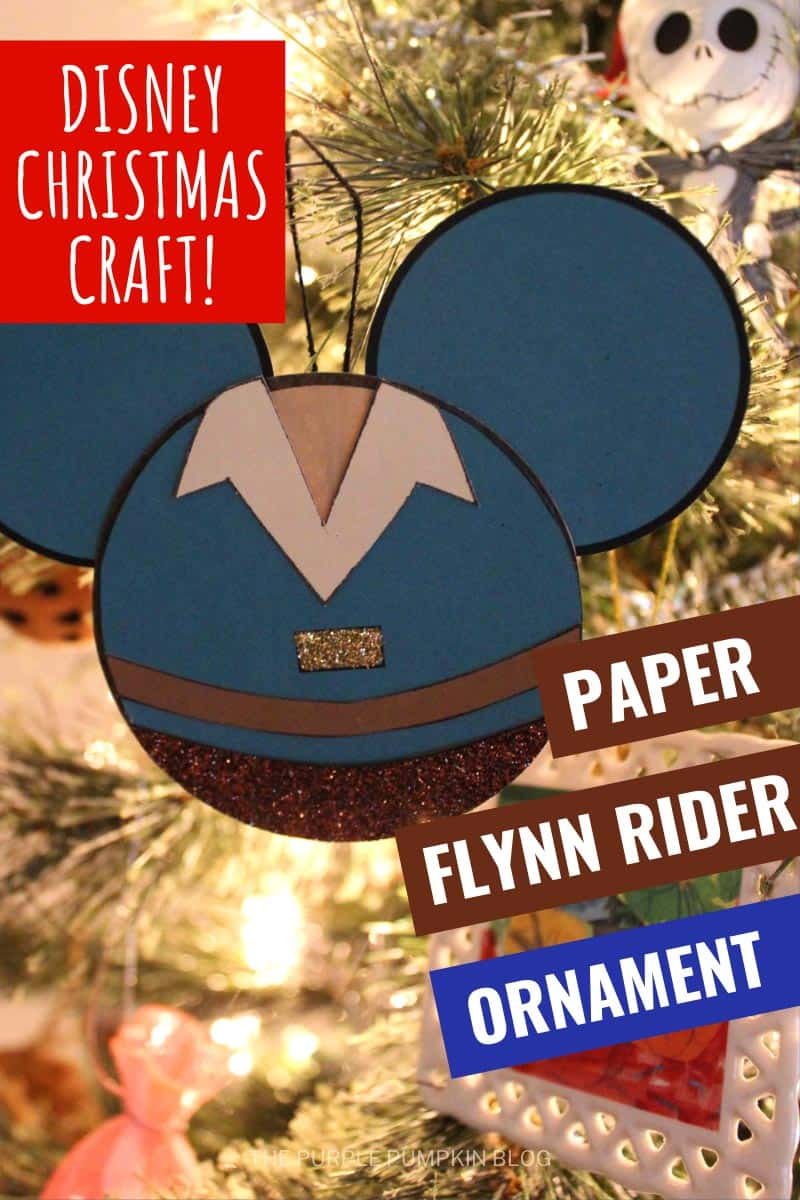 Disney-Christmas-Craft-Paper-Flynn-Rider-Ornament