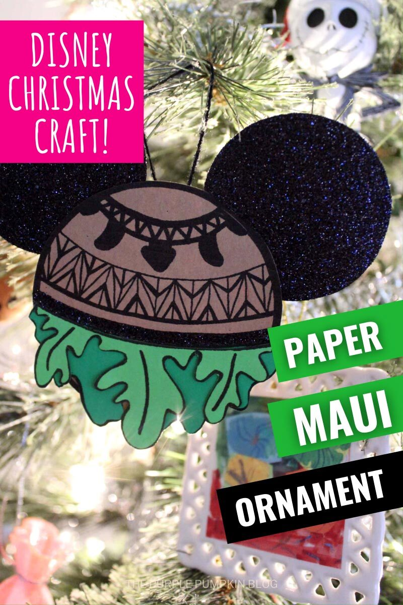 Disney Christmas Craft! Paper Maui Ornament
