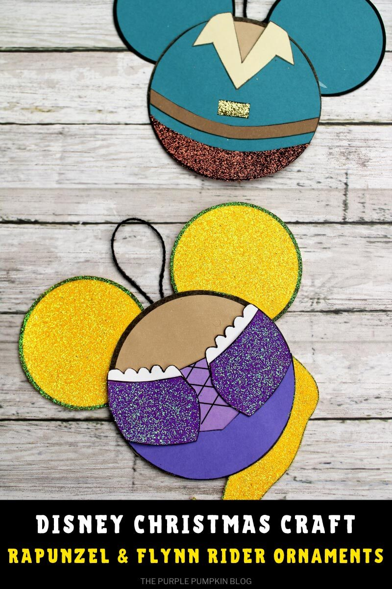 Disney Christmas Craft Rapunzel & Flynn Rider Ornaments