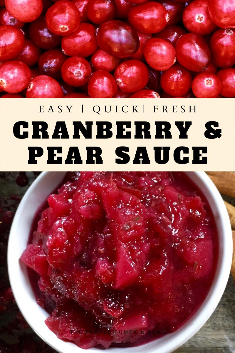 Easy, Quick, Fresh Cranberry & Pear Sauce