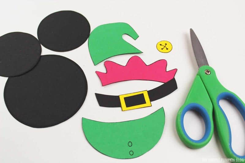 Elf Mickey Mouse Ornament Pieces