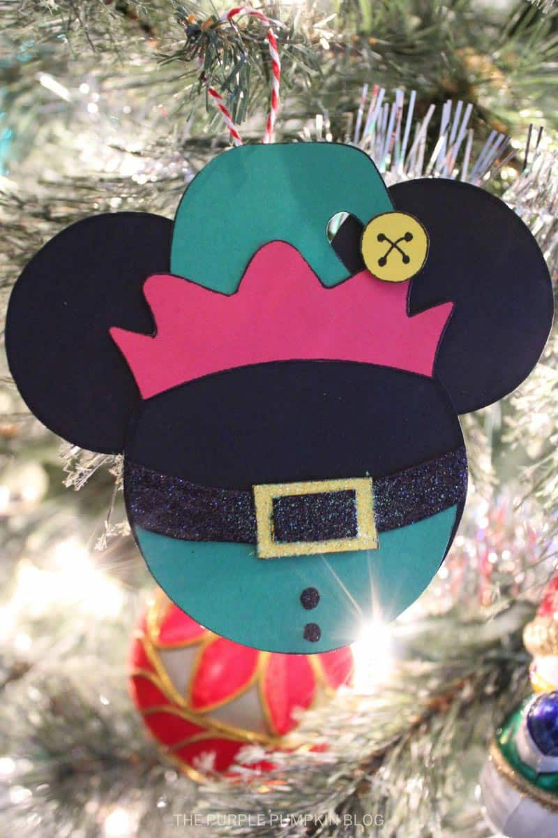 Elf Mickey Mouse Christmas Ornament
