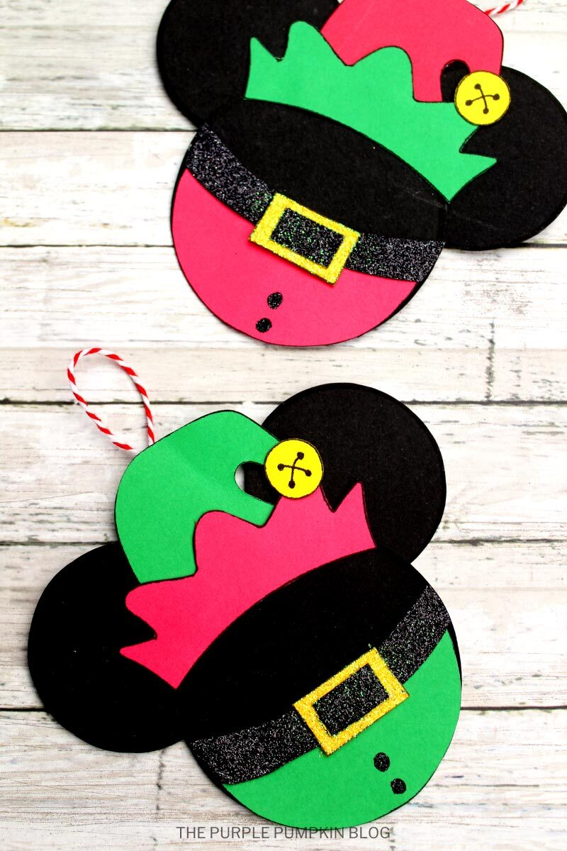 Elf Mickey Mouse Christmas Ornaments