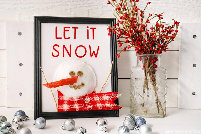 Finished Snowman Sign Craft