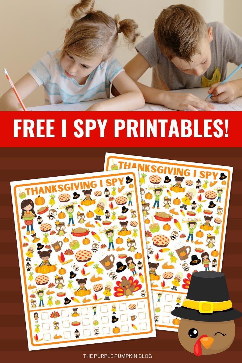 Free I Spy Printables for Thanksgiving