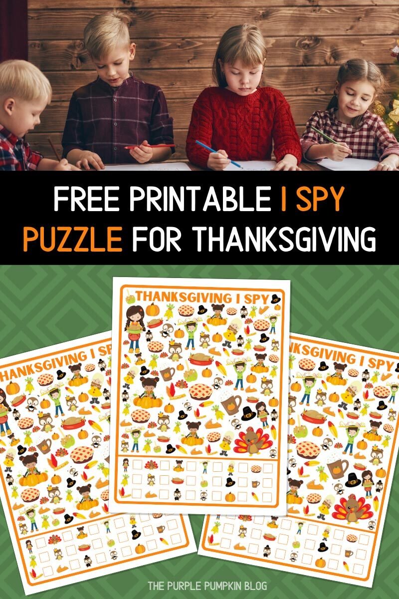 Free Printable I Spy Puzzle for Thanksgiving