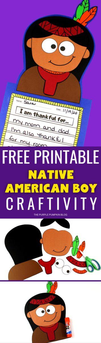 Free Printable Native American Boy Craftivity