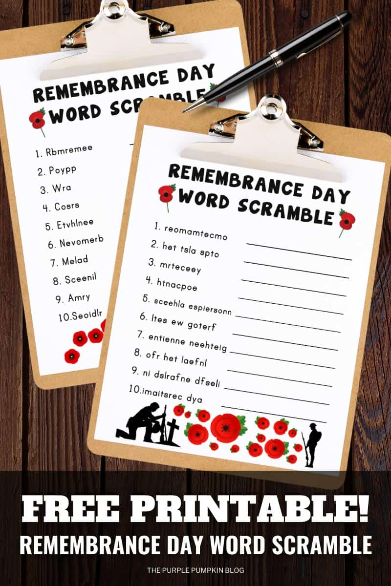 Free-Printable-Remembrance-Day-Word-Scramble-Puzzles
