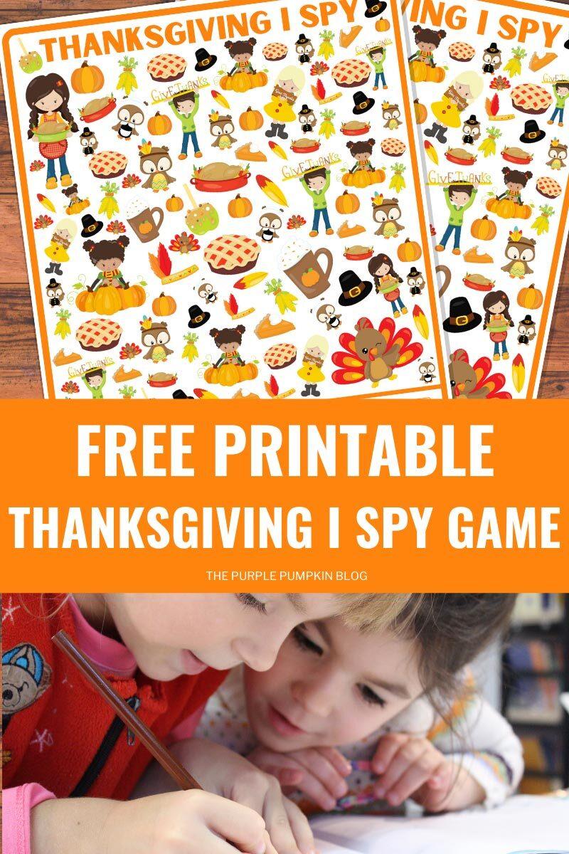 Free Printable Thanksgiving I Spy Game