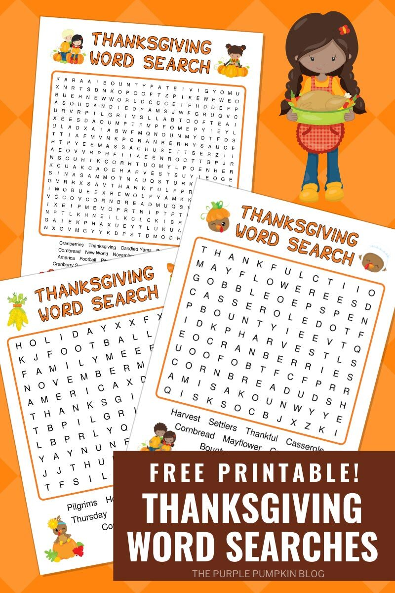 Free Printable Thanksgiving Word Searches