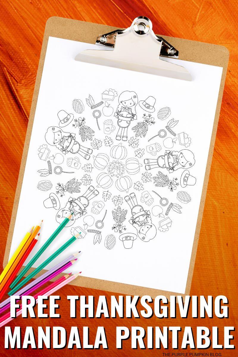 Free Thanksgiving Mandala Printable