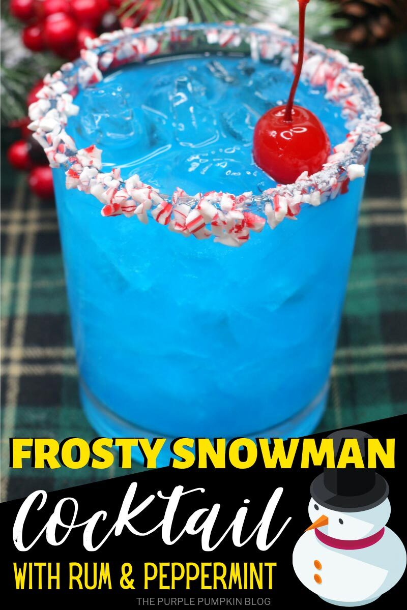 Frosty Snowman Cocktail with Rum & Peppermint