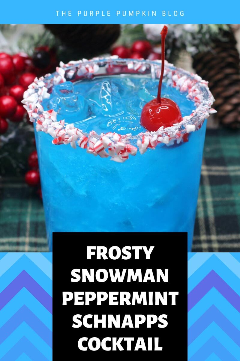 Frosty Snowman Peppermint Schnapps Cocktail