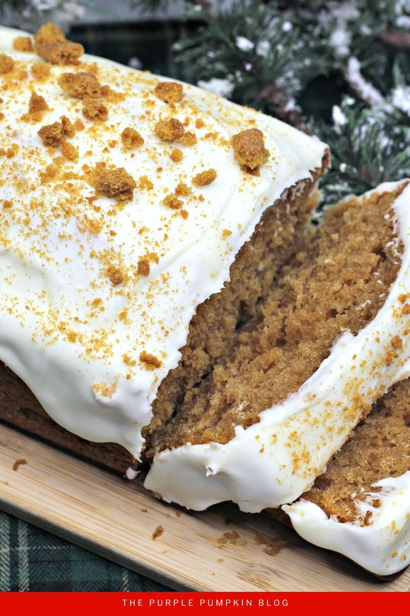 Gingerbread Loaf Recipe with Cream Cheese Frosting
