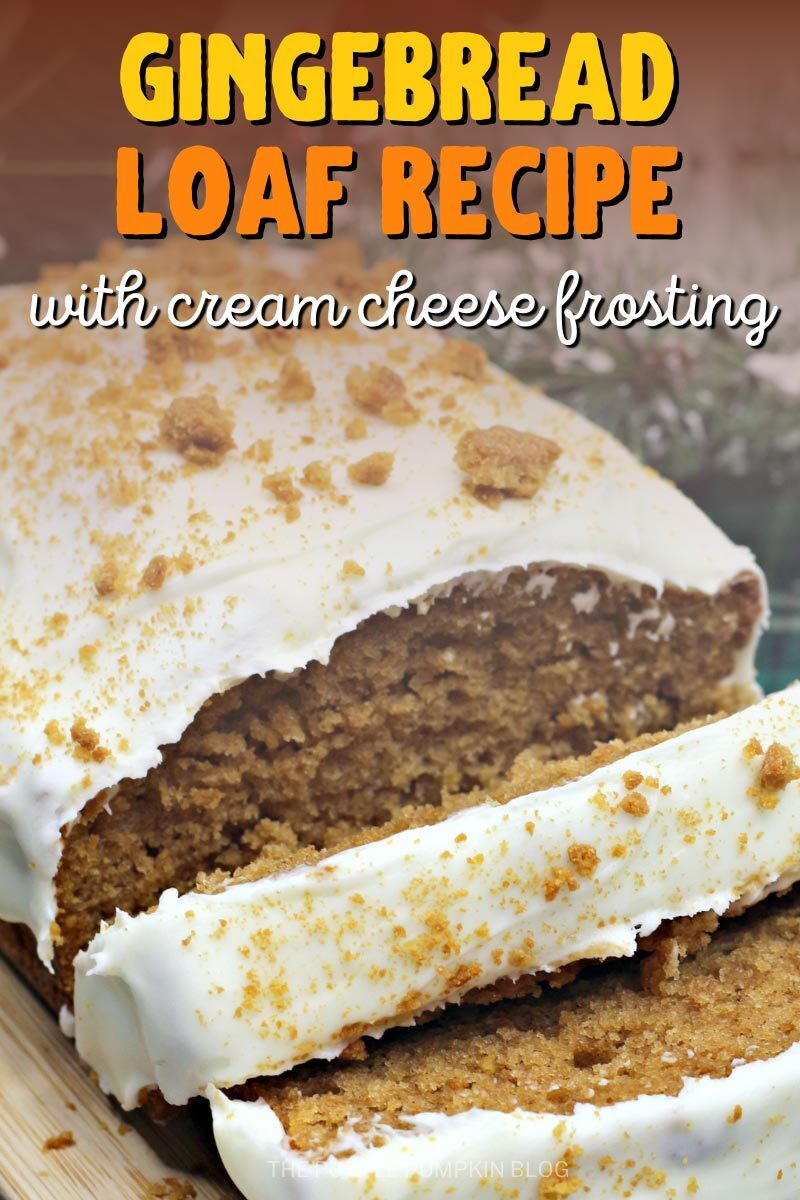 Gingerbread Loaf Recipe with a Cream Cheese Frosting