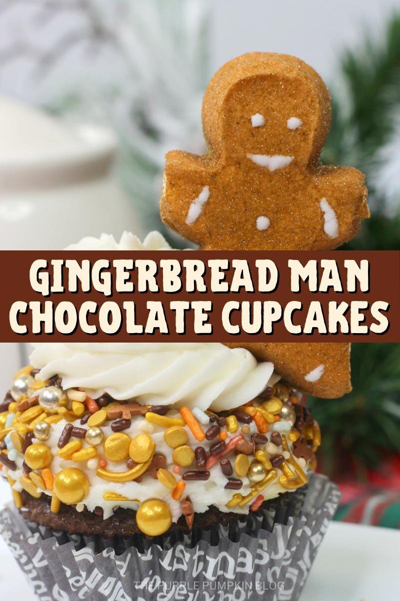 Gingerbread Man Chocolate Cupcakes