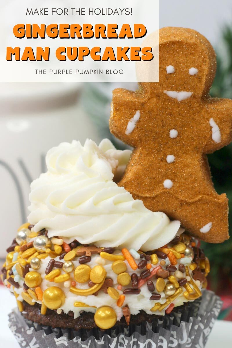 Gingerbread Man Cupcakes - Make for the Holidays!