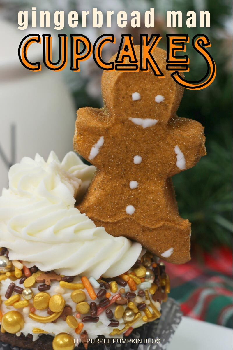Gingerbread Man Cupcakes for Christmas