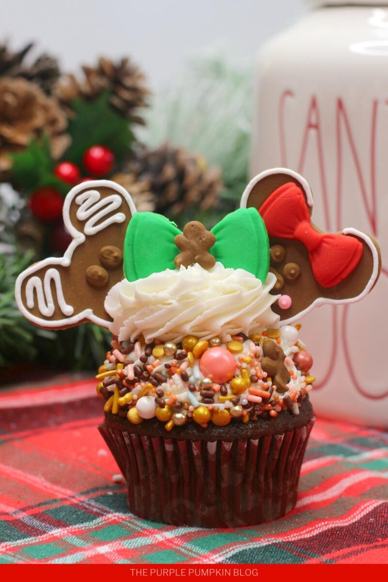 Gingerbread Man Minnie & Mickey Mouse Cupcakes