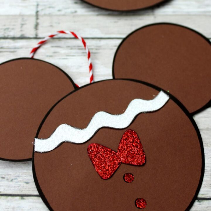 Gingerbread Mickey Mouse Christmas Ornament Craft