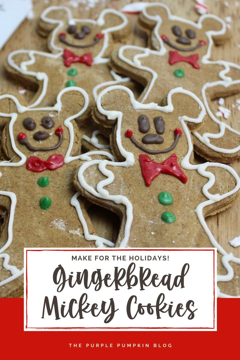 Gingerbread Mickey Cookies - Make for the Holidays
