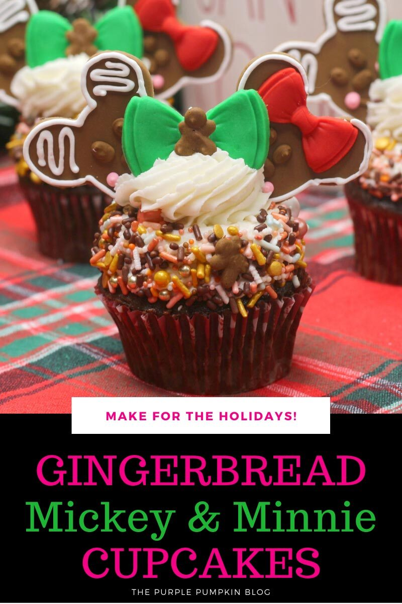 Gingerbread Mickey & Minnie Cupcakes - Make for the Holidays!