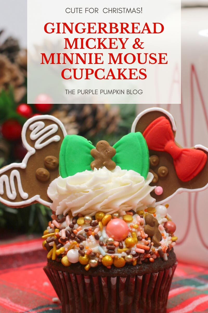 Gingerbread Mickey & Minnie Mouse Cupcakes Recipe