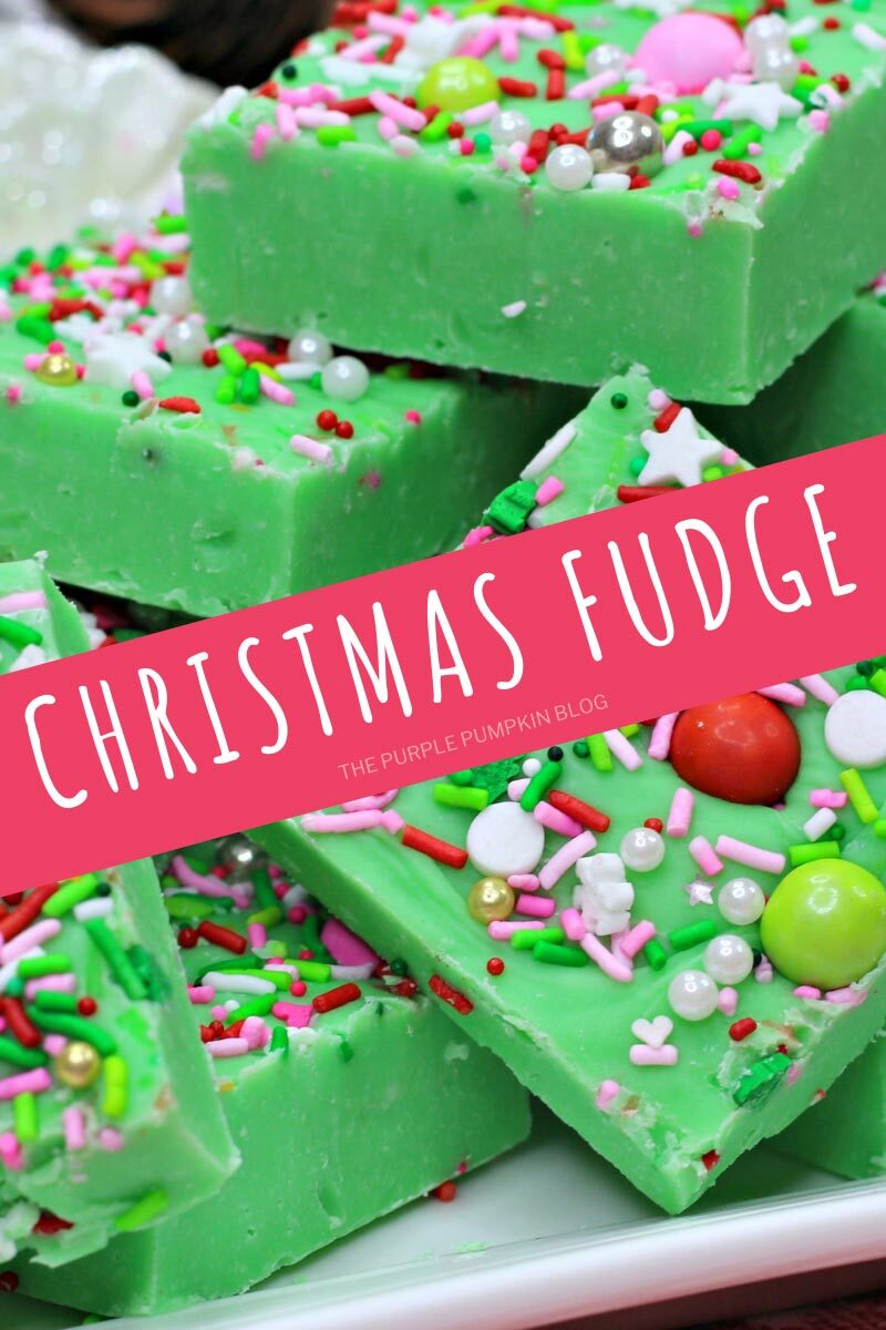 Grinch-themed Christmas Fudge Recipe