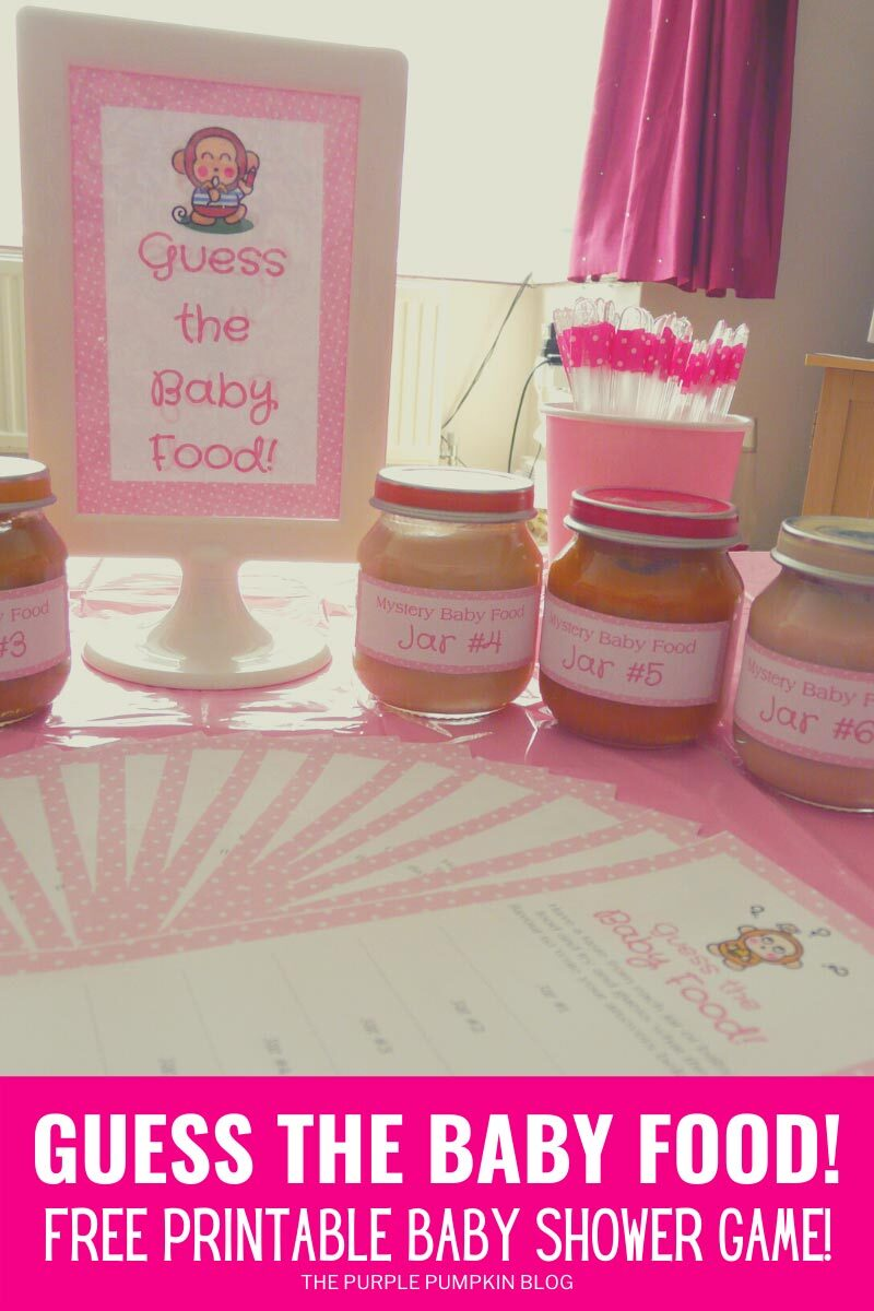 Guess the Baby Food - Free Printable Baby Shower Game
