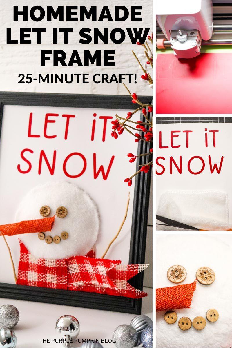 Homemade Let It Snow Frame