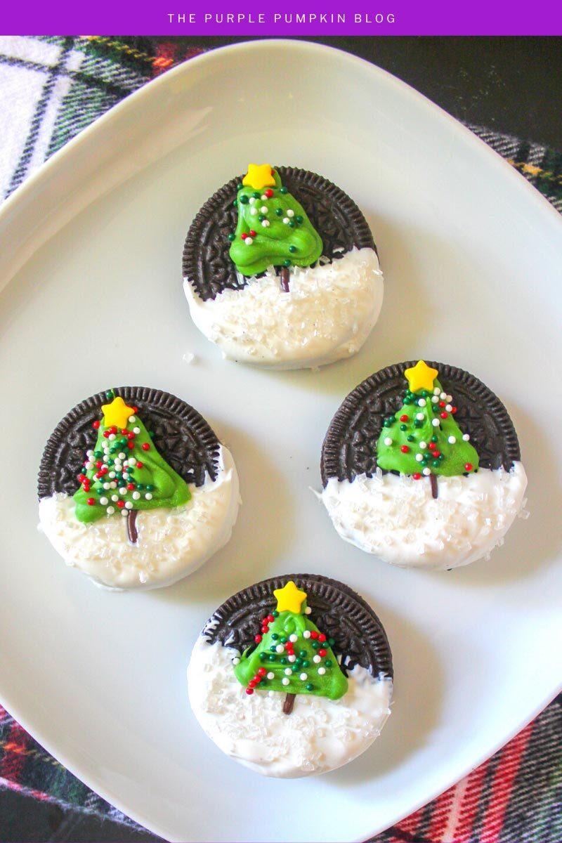 How To Make Christmas Tree Oreo Cookies