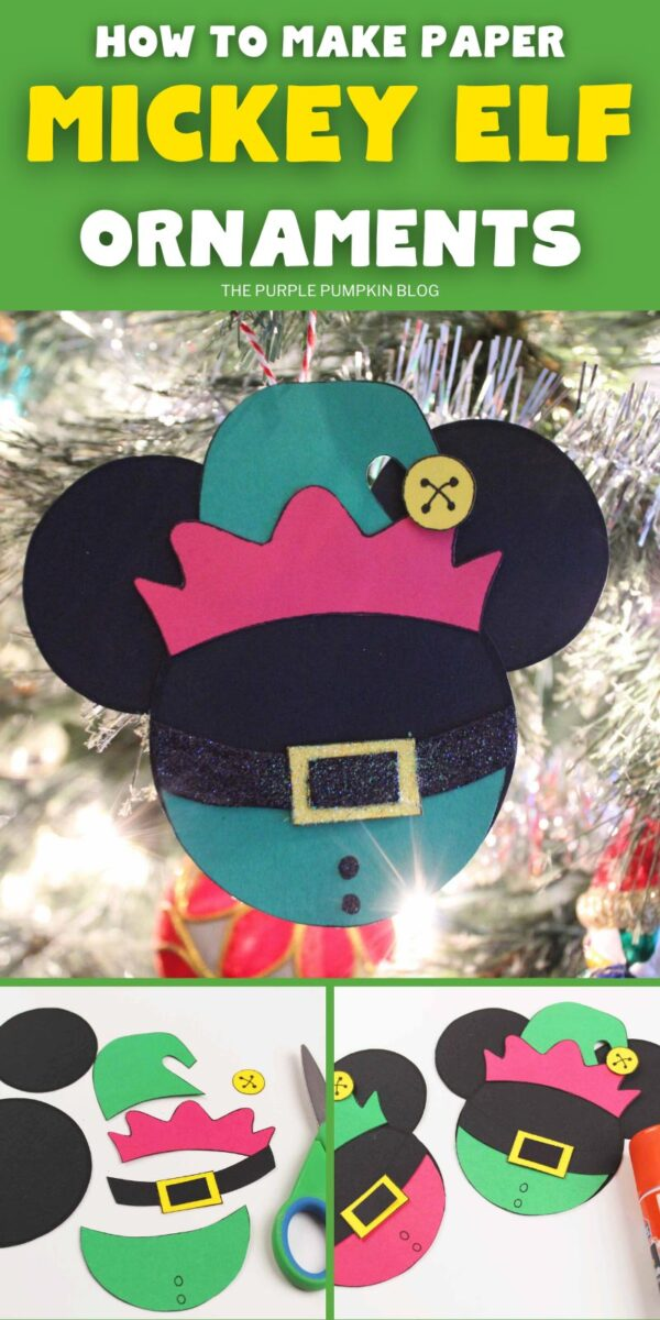 How To Make Paper Mickey Elf Ornaments