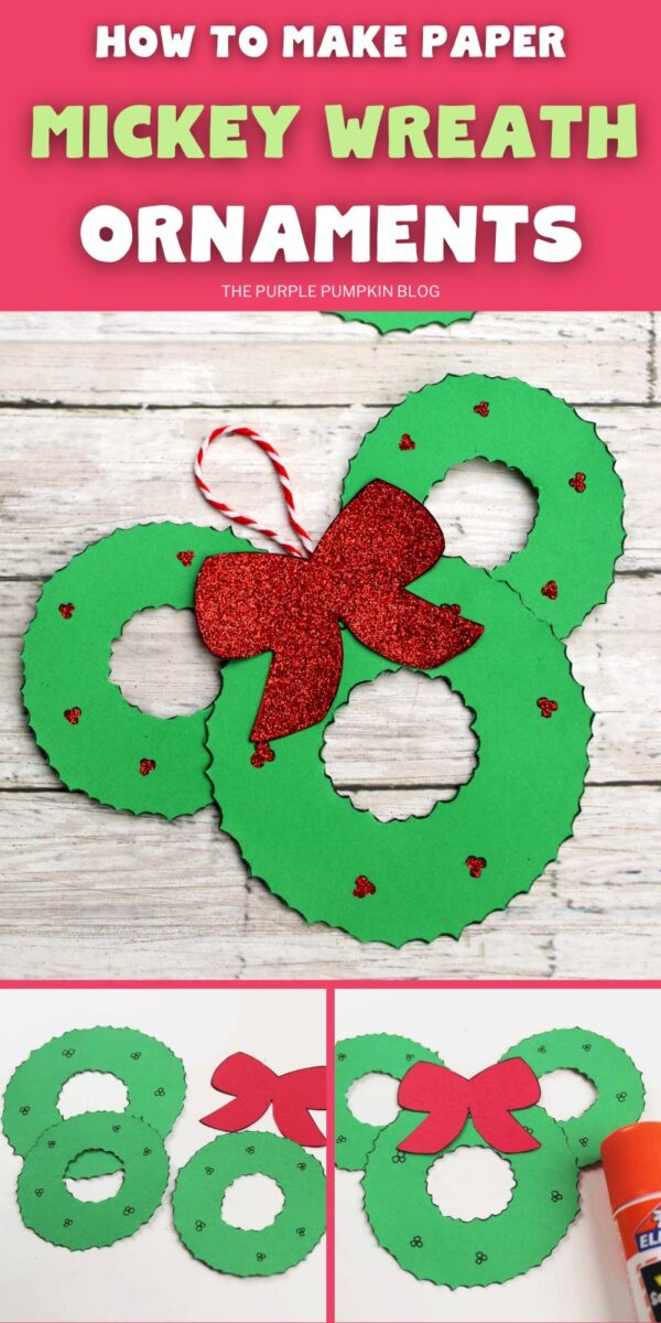 How To Make Paper Mickey Wreath Ornaments