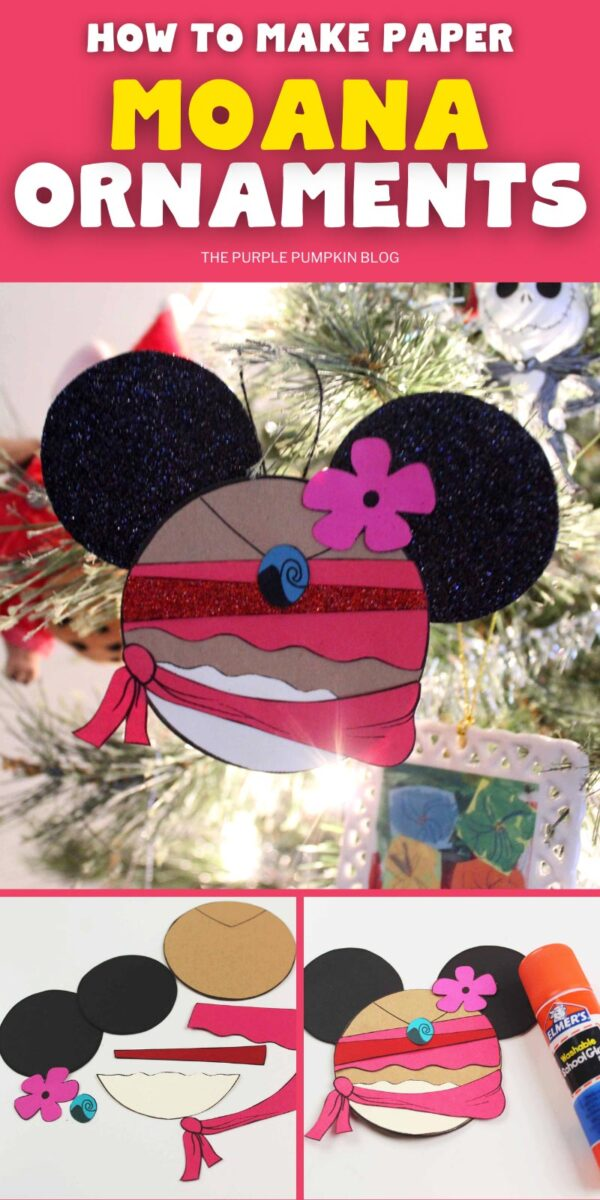 How To Make Paper Moana Ornaments