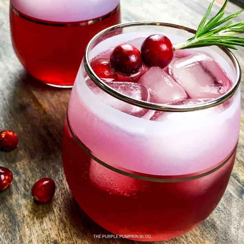 Cinnamon & Cumin-infused Cranberry Vodka Spritzer