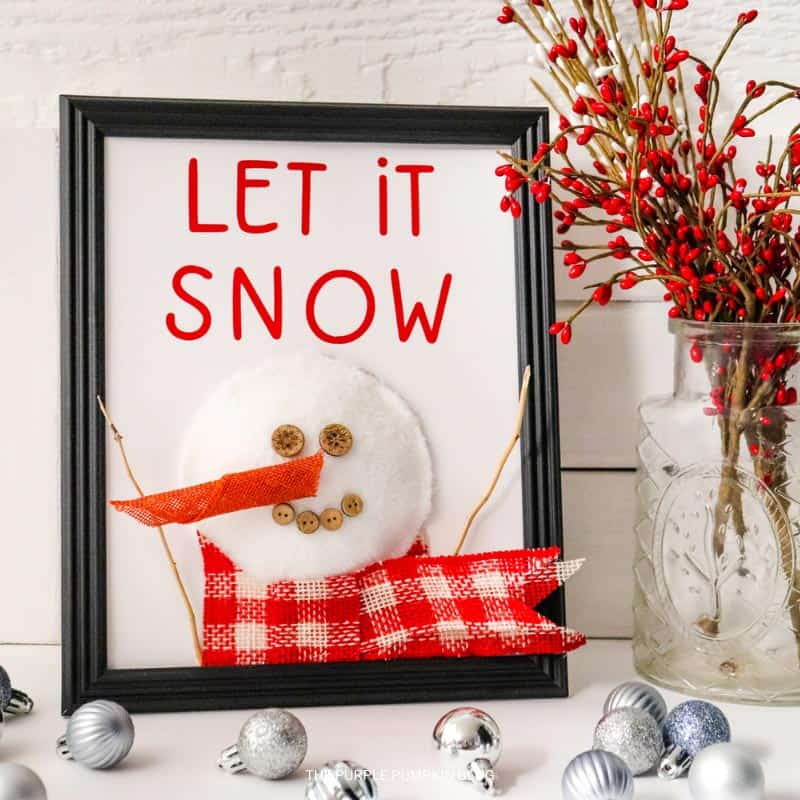 Let It Snow Sign Craft