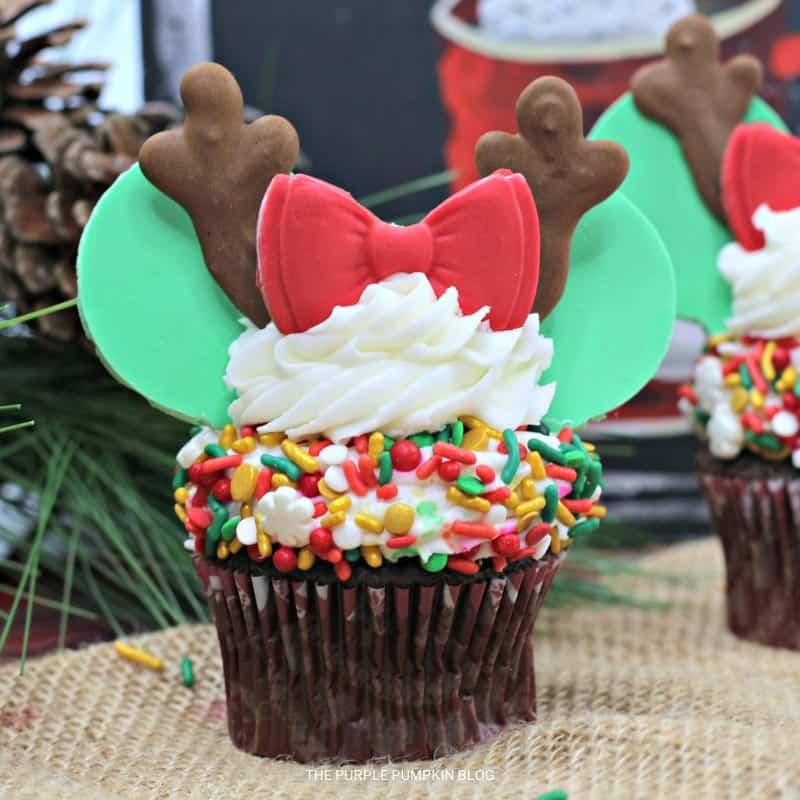Reindeer Minnie Mouse Cupcakes