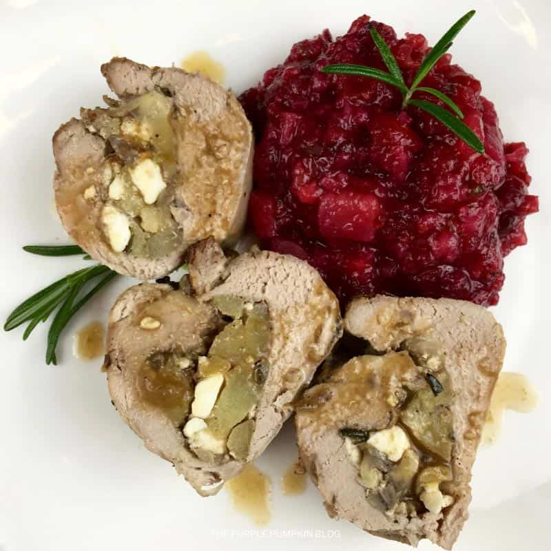Pork Tenderloin Stuffed with Feta & Apples