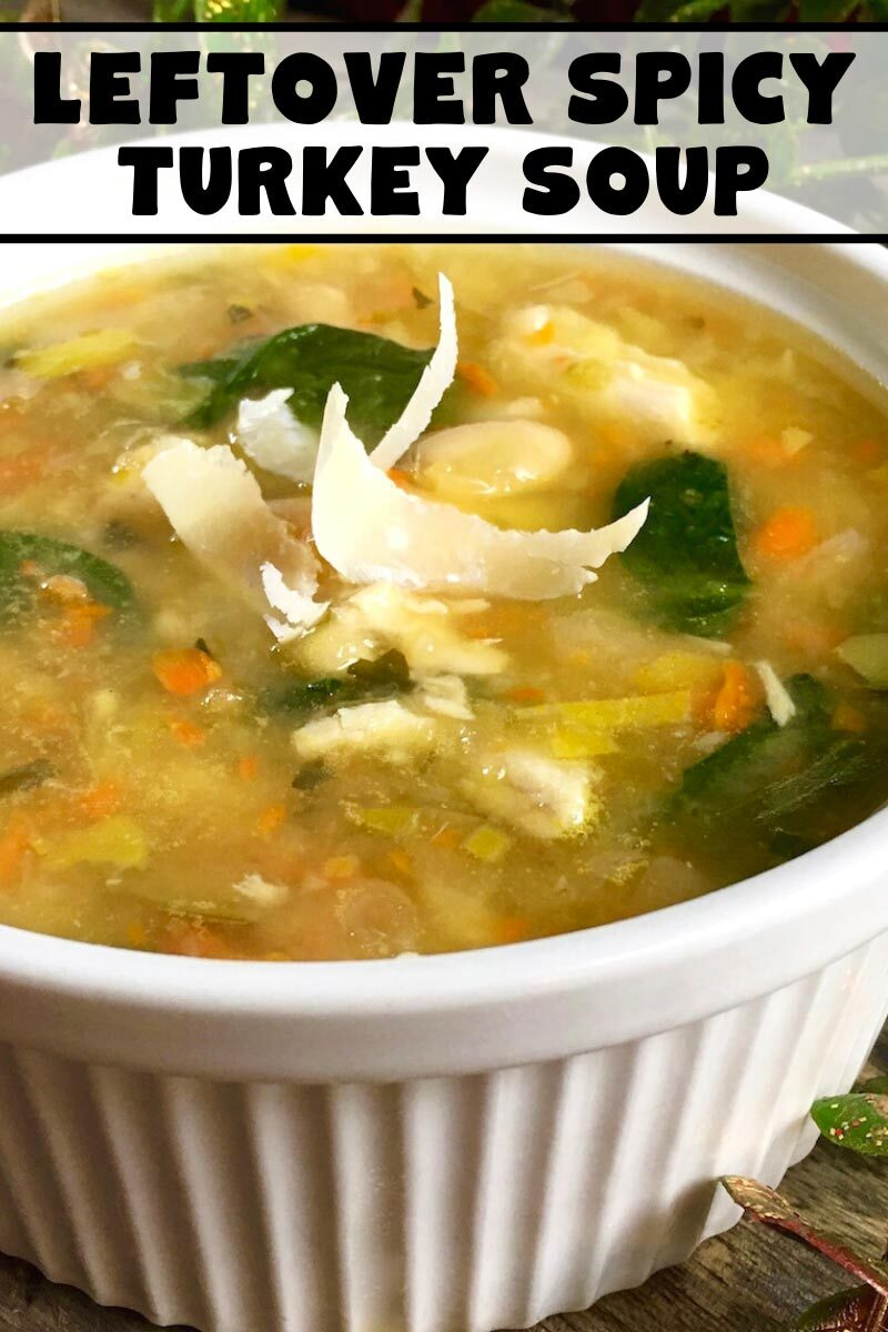 Leftover Spicy Turkey Soup