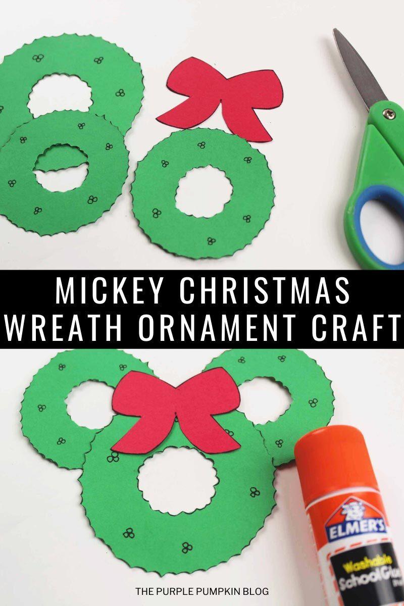 Mickey Christmas Wreath Ornament Craft