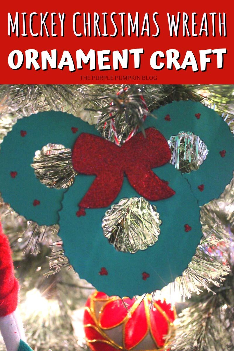 Mickey Mouse Wreath Christmas Ornament Craft
