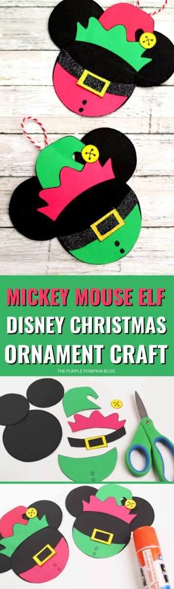Mickey Mouse Elf Disney Christmas Ornament Craft