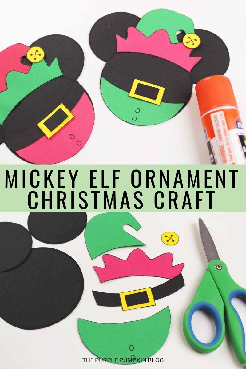 Mickey Elf Christmas Ornament Craft