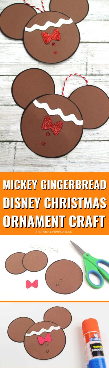 Mickey Gingerbread Disney Christmas Ornament Craft